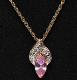 Pink Sapphire & Diamond Estate Necklace