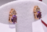 Amethyst & White Topaz Dinner Earrings
