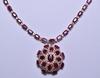 43.80 ct. Genuine Ruby & Diamond Necklace