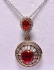 Round Cut Ruby Dinner Necklace