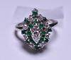 2.85 ct. Genuine Emerald & Diamond Estate Ring