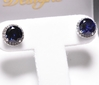 Round Cut Sapphire Earrings