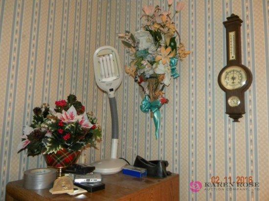 Barometer, Desk Light, and Misc