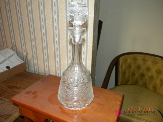 """Crystal Decanter 13"""""""