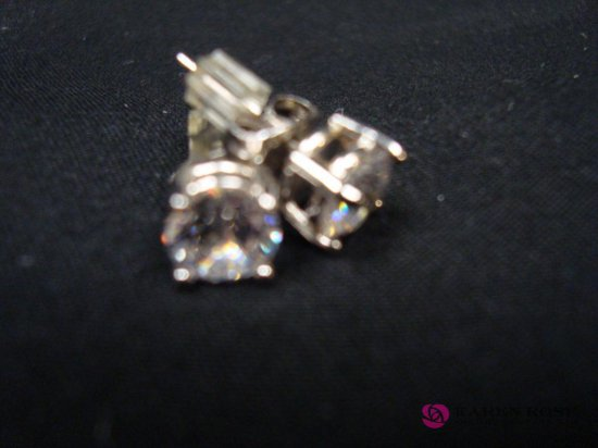 Cubic Zirconia 2.55ct Round Earrings