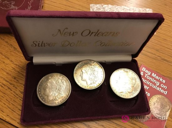 New orleans silver dollar collection