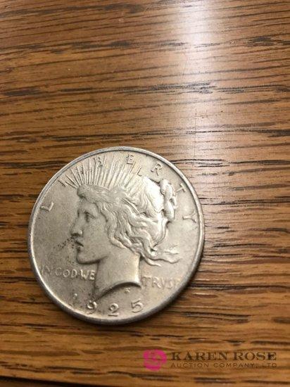 1925 peace silver dollar