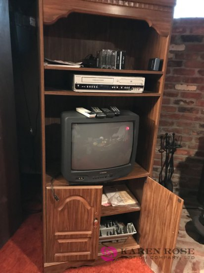 TV /TV stand /VHS player with DVD
