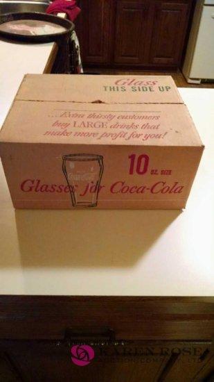 12 Libbey Coca-Cola glasses