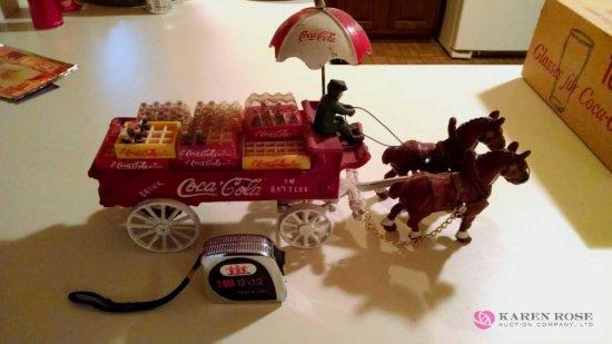 Coca-Cola cast metal horse-drawn wagon
