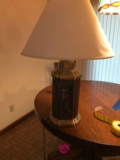 Brass colored lamp