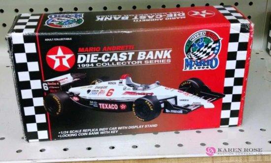 1/24th scale Mario Andretti diecast Bank