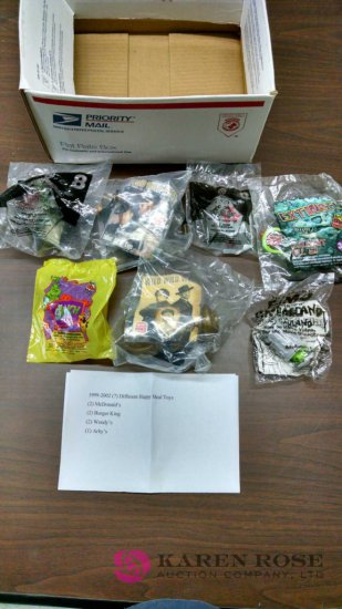 lot of eight Happy Meal toys 1999 to 2002