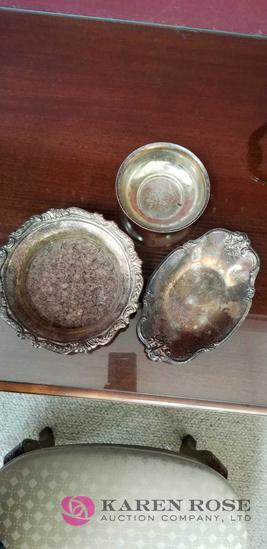Silver Bowls and Tray