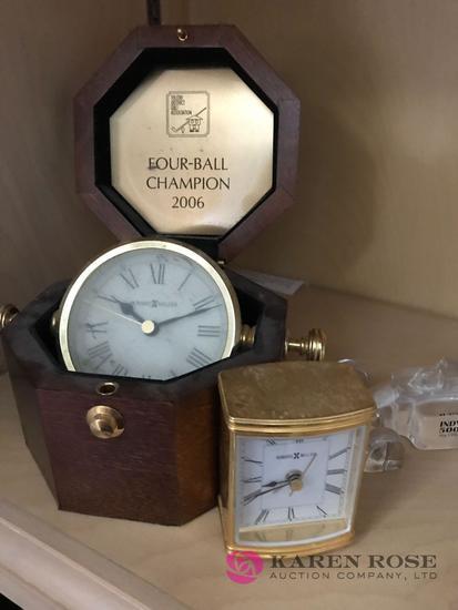 Clocks, advertisement knickknacks
