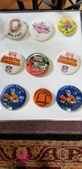 Football and Baseball Badges