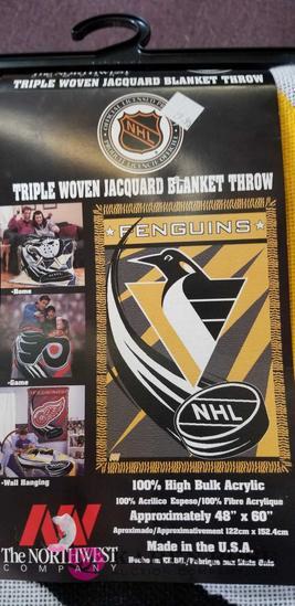 NHL Penguins Blanket