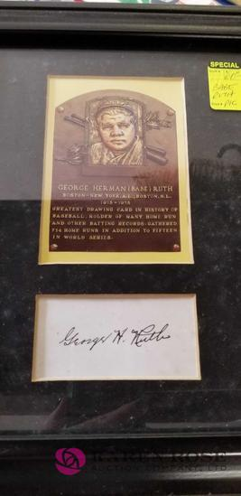 Framed Picture about Babe Ruth