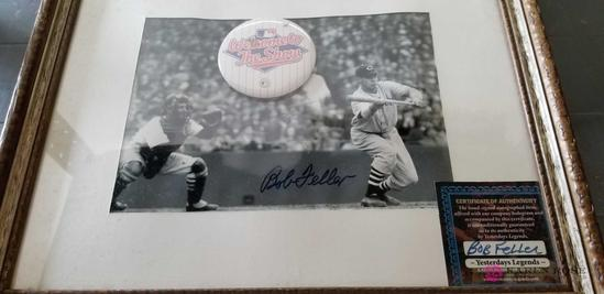 Signed Picture of Bob Feller