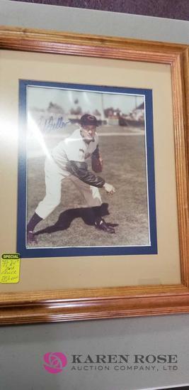 Framed Picture of Bob Feller
