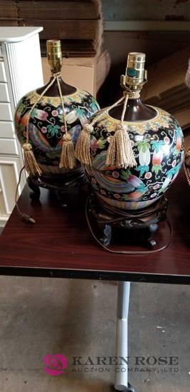 Pair of Asian Lamps