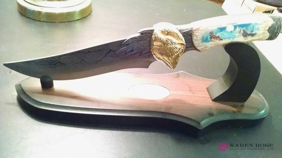 Decorative 12-inch knife with stand