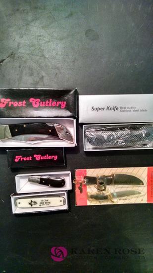 Lot of 5 pocket knives