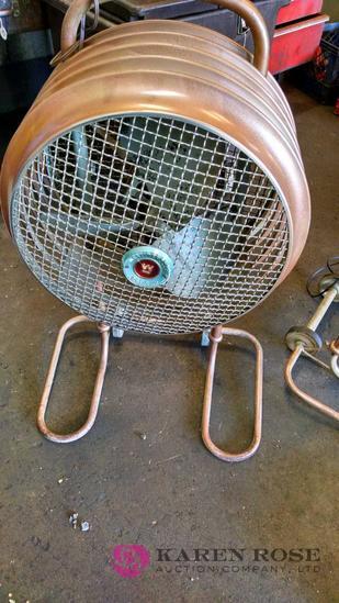 Mobile air floor fan