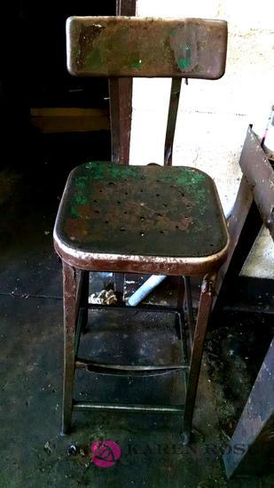 Metal shop stool