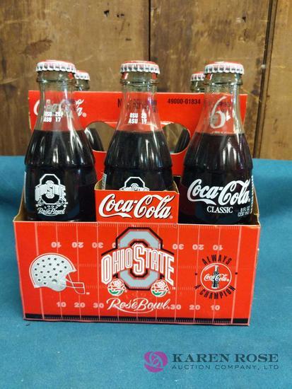 6 Pack Coca Cola Ohio State Rose Bowl Bottles