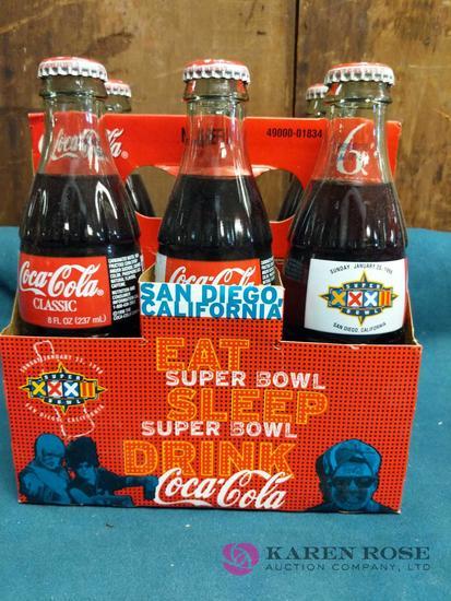Super Bowl XXXII Collectible Coca Cola Bottles