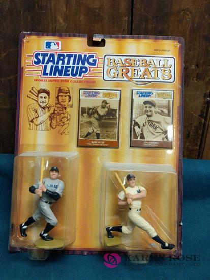 Babe Ruth and Lou Gehrig Starting Lineup