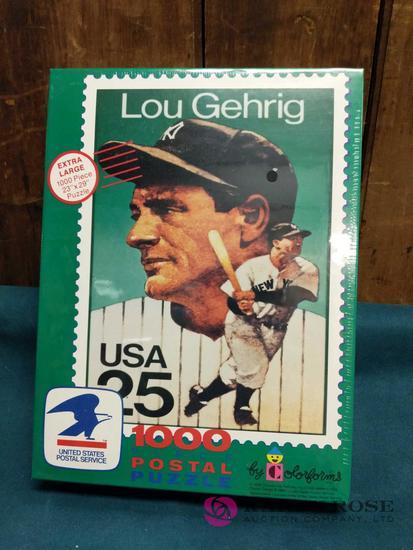 1000 Piece Lou Gehrig Postal Puzzle
