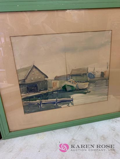 Picture signed weaver appears to be Watercolor