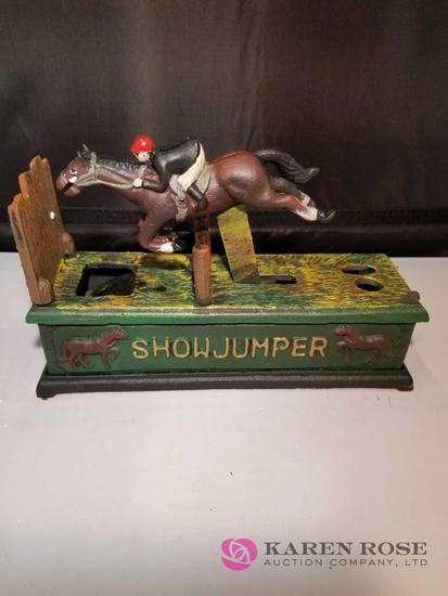 Showjumper Cast Iron Mechanical Bank