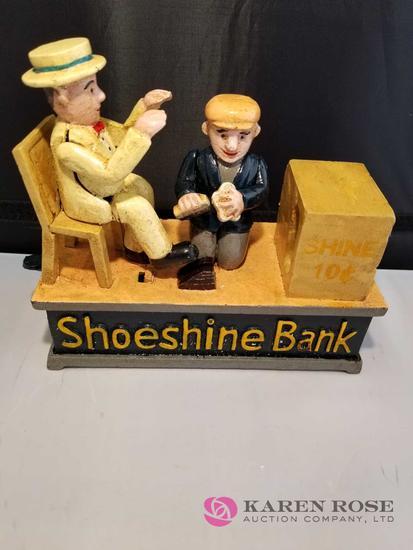 Shoeshine Cast Iron Mechanical Bank
