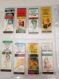 Vintage Girl Matchbook Covers