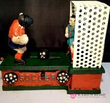 Soccer Cast Iron Mechanical Bank