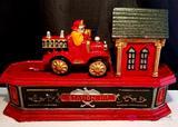 Fire Engine Cast Iron Mechanical Bank