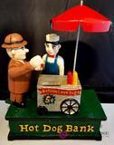 Hot Dog Cast Iron Mechanical Bank