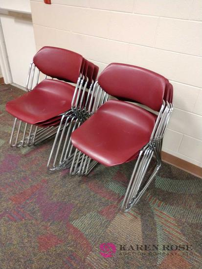10 stackable conference chairs