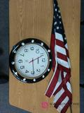 Room 204 13 in lorell radio-controlled clock and flag