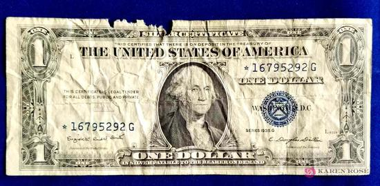 1935 One Dollar Silver Certificate Star Note
