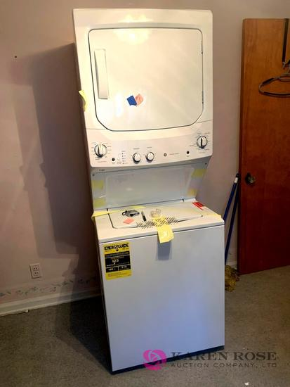 Brand new GE stacking washer and dryer