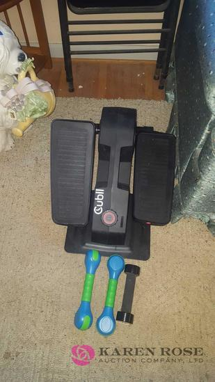 Exercise stepper and hand weights