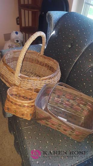 3 decorative baskets