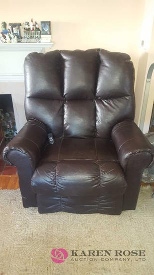 Leather Lift Chair oversized