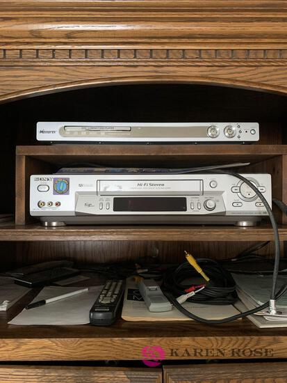 Memorex DVD player and Sony VHS