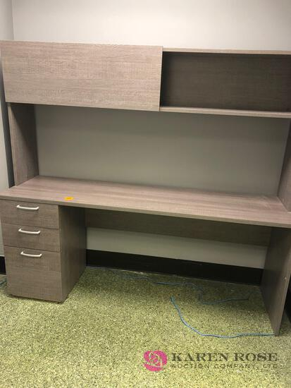 Contemporary desk and matching file cabinet