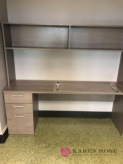 Beautiful desk and matching cabinet. See pictures as they are part of the description